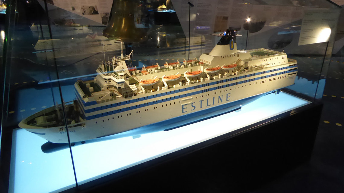 Model of the ferry MS Estonia in the Estonian Maritime Museum. Photo: Leif Jørgensen/W. Commons.