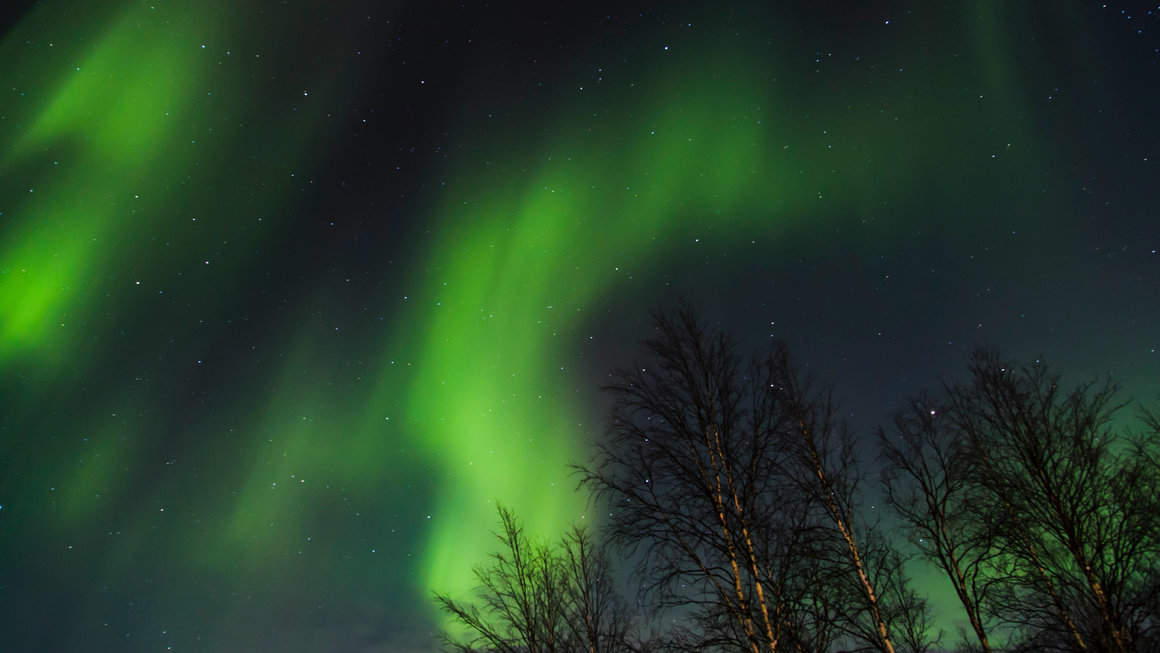 Northernlights in Lapland, by Nicolas LB