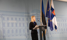 Estonian Prime Minister Kaja Kallas during her recent visit to Finland. Photo: Fanni Uusitalo/Vnk.