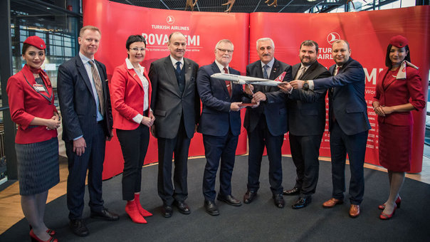 Turkish Airlines opened a new direct flight from Istanbul to Rovaniemi