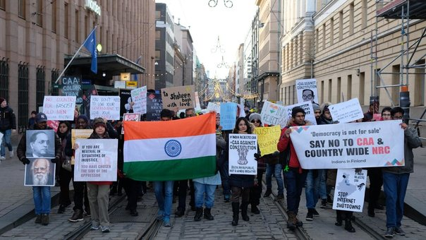 Protests in Finland against new 'anti-Muslim' Indian Citizenship law