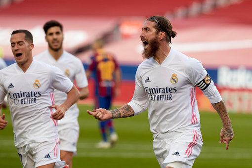 Ramos spot-on as Real Madrid win Clasico 3-1 over Barcelona