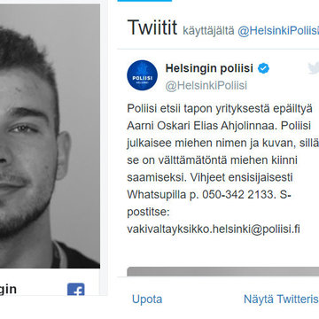 Police searching for suspect of attempted homicide in Helsinki