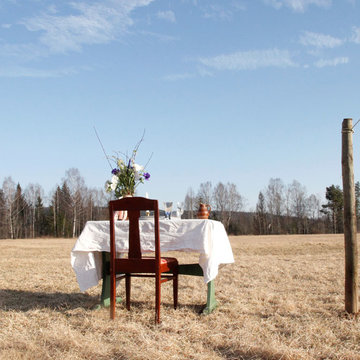 Swedish corona-safe restaurant serves one guest at a time in a meadow