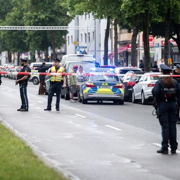 Suspects detained after van ploughs into group in Munich