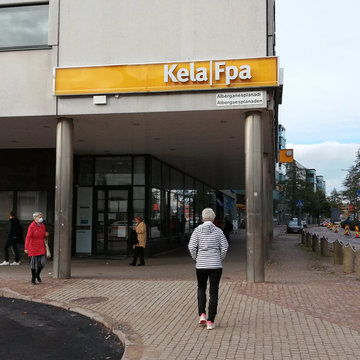 Social Security (Kela) office in the city of Espoo. Photo:  © Foreigner.fi.