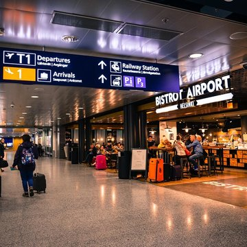 A view of the interior of Helsinki airport. Photo: Pixabay/file photo.