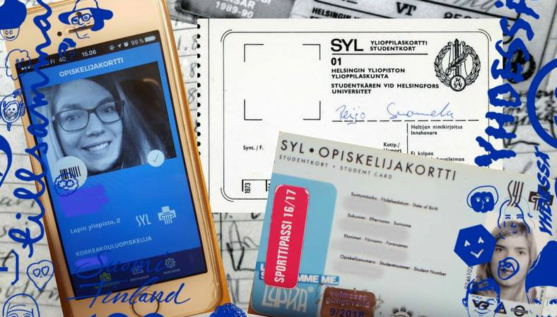 Finnish student cards. Image: SYL