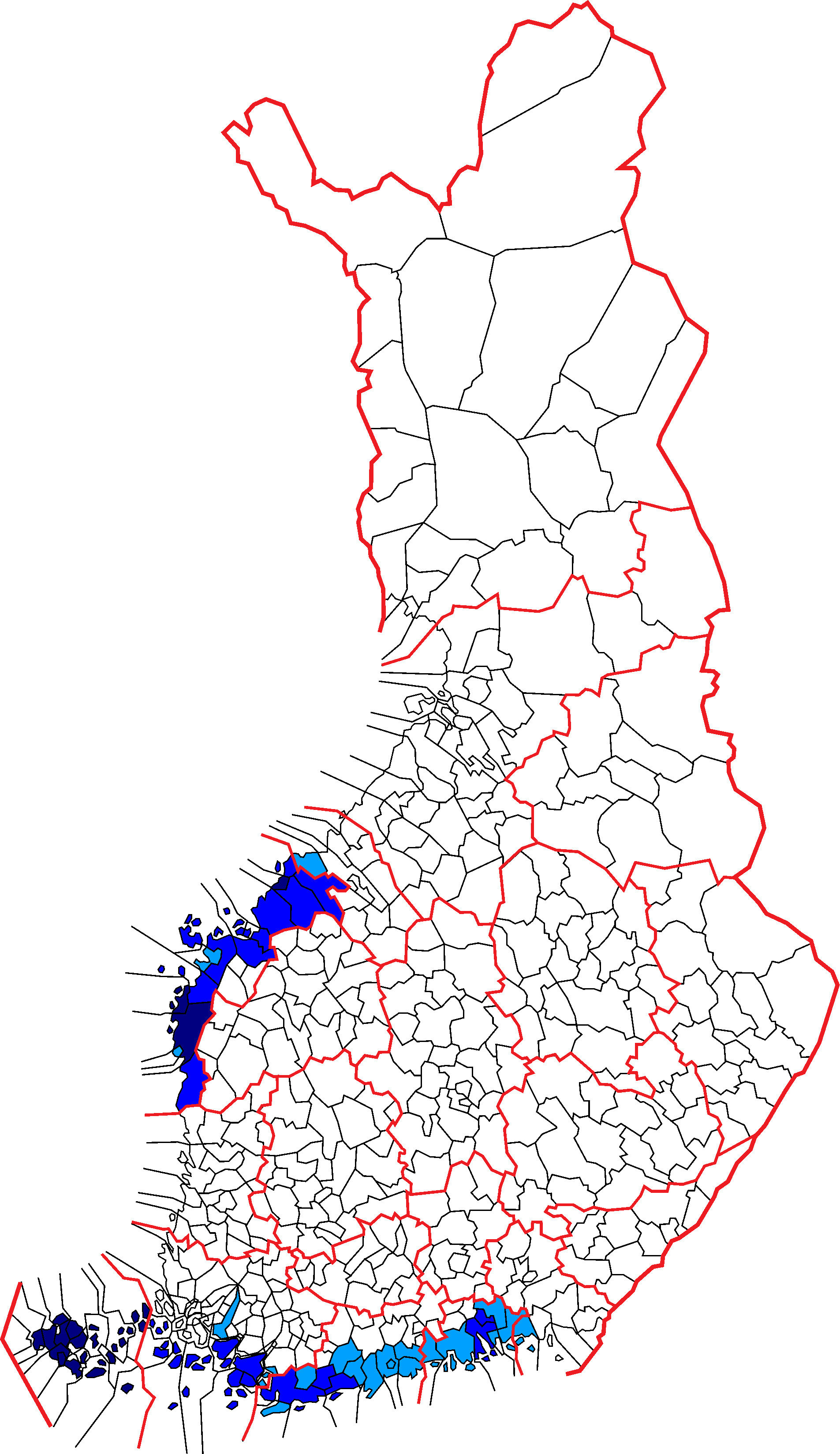 Svenskfinland swedish finnish municipalities