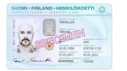 A foreigner's identity card. Image: Finnish Police.