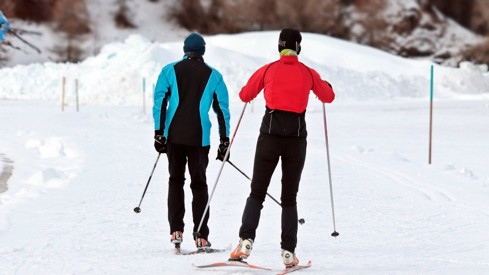 Cross country ski couple