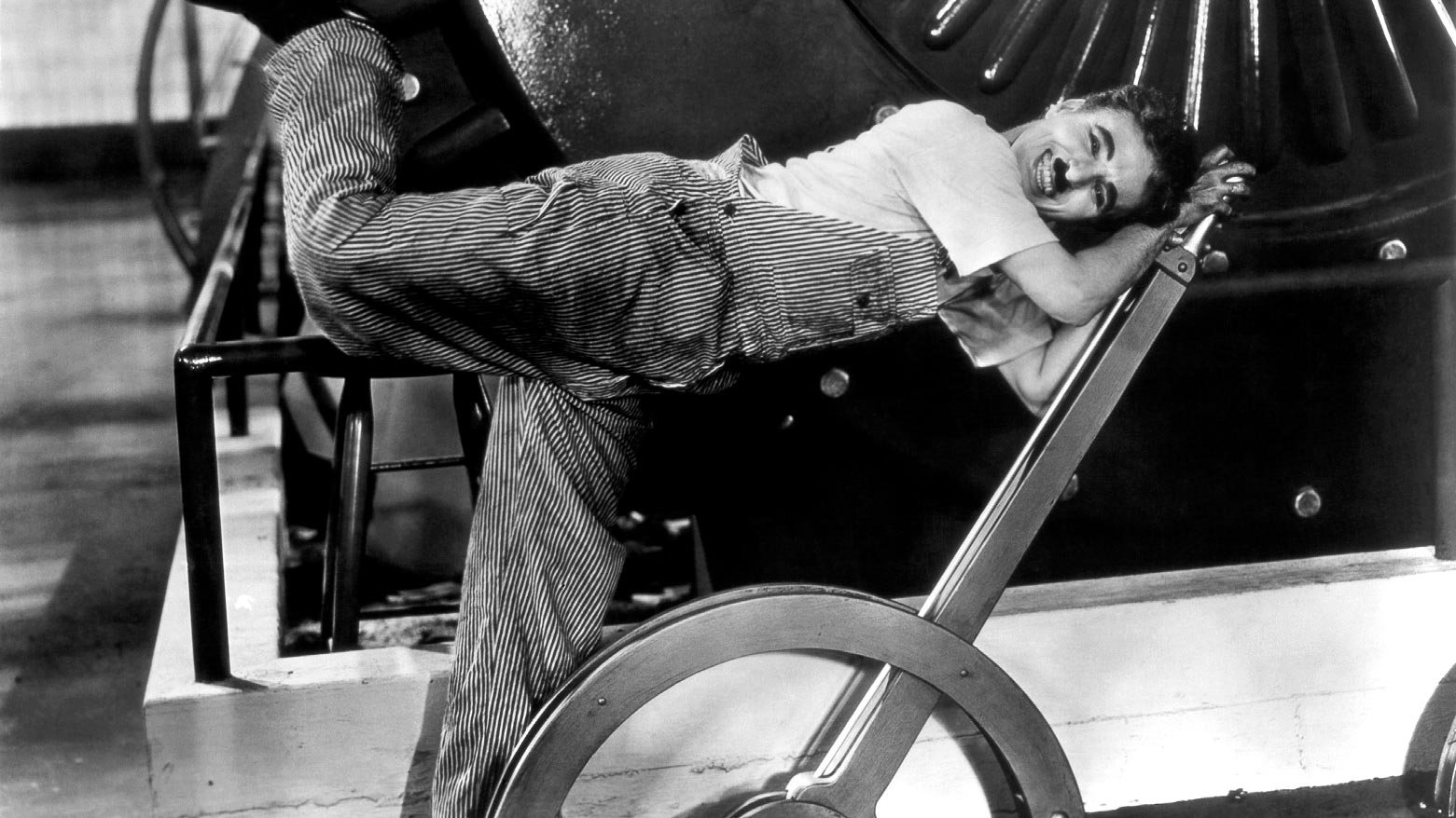 Charles Chaplin in his movie 'Modern Times' (1936). Image: Public Domain.