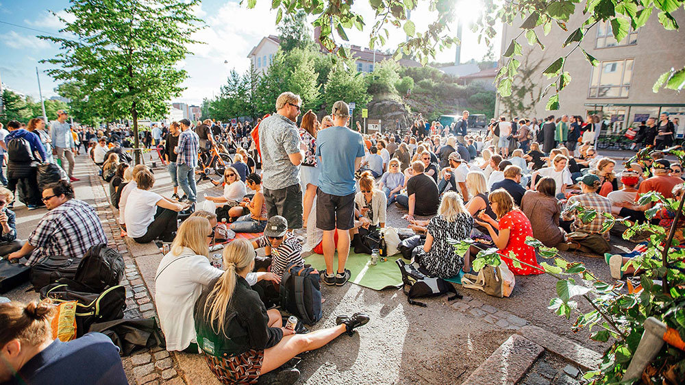 The Kallio Block Fest of arts and music, in the streets of Helsinki. Photo: Julia Kivela-Visit Finland.