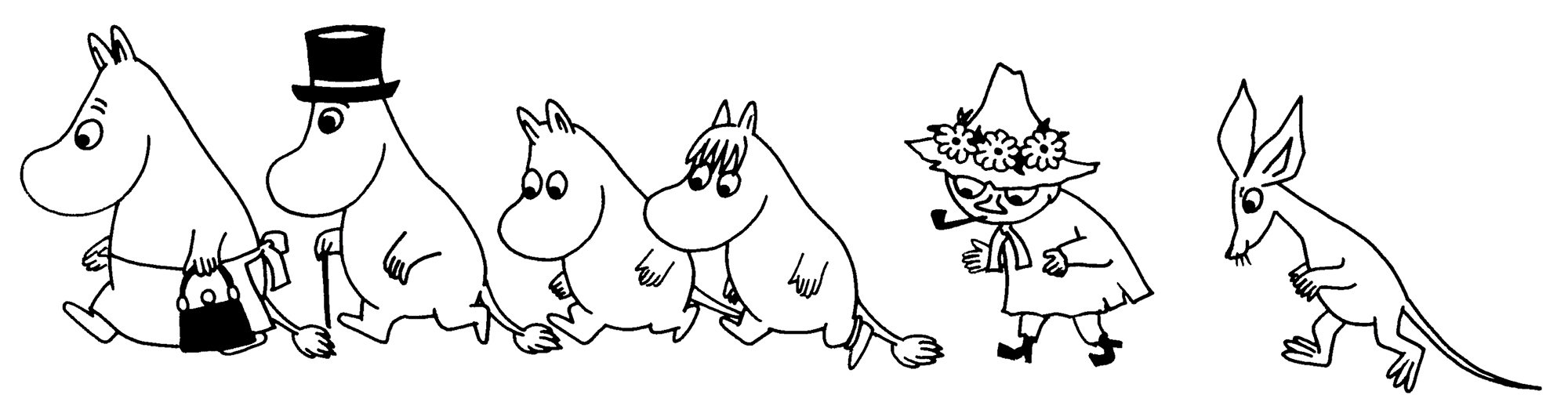 папе мумий тролль рисунки персонажей основе