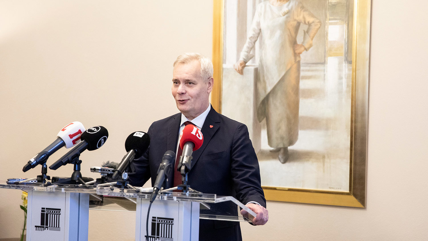 The leader of the Social Democratic Party (SDP), Antti Rinne. Photo: Hanne Salonen/Eduskunta.