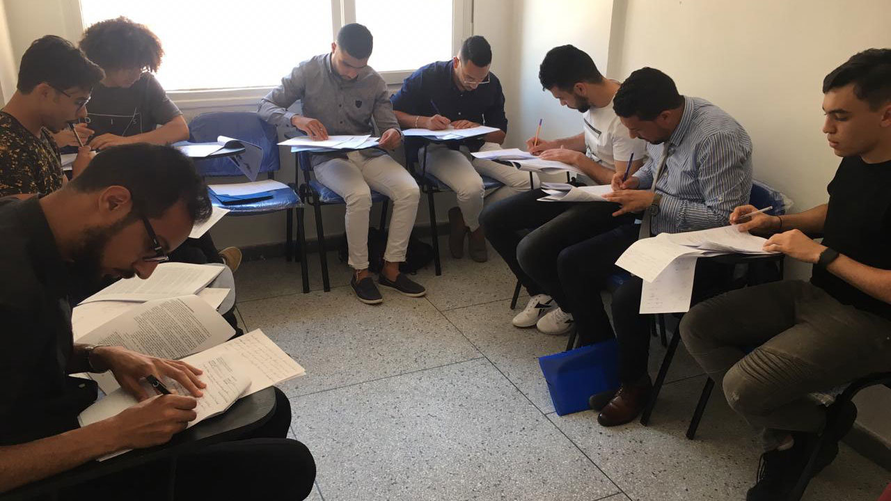 The first entrance exam was held on May 30. Photo: Omaima Tebtob.