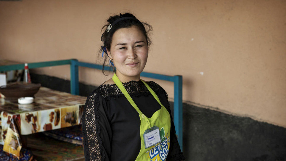 Before stateless, Nazgul Avaz Kyzy is now a citizen of Kyrgyzstan. Photo: © UNHCR/Chris de Bode.