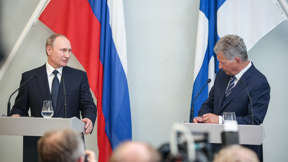 File photo of a meeting between Putin (left) and Niinistö. Photo: Office of the President of the Republic of Finland.