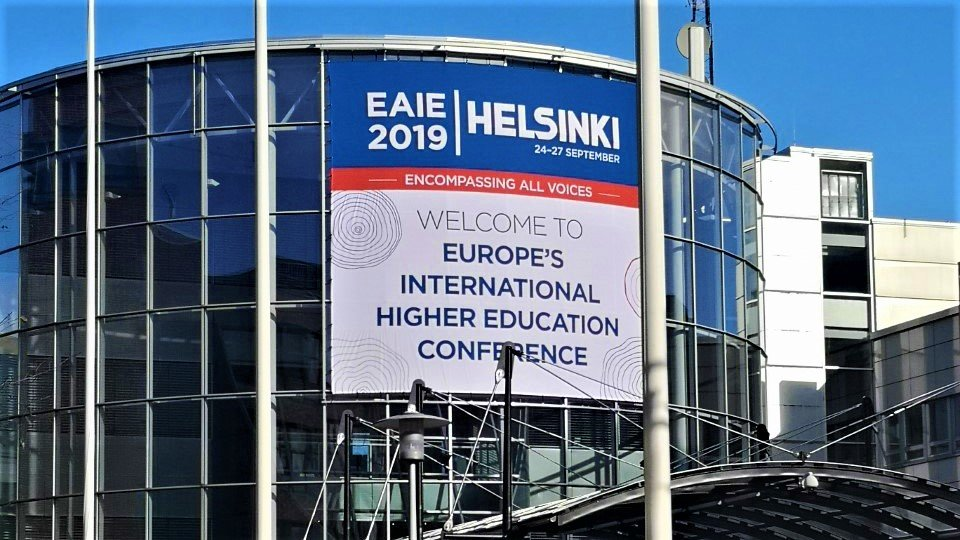 EAIE 2019 takes place in Messukeskus exhibition centre. Photo: Omaima Tebtob/Foreigner.fi.