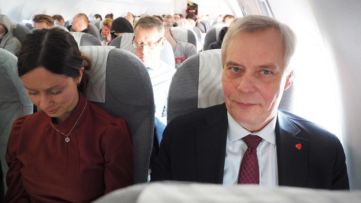 Prime Minister Rinne (right) during a recent trip to Brussels. Photo: Anne Sjöholm/Finnish Government.