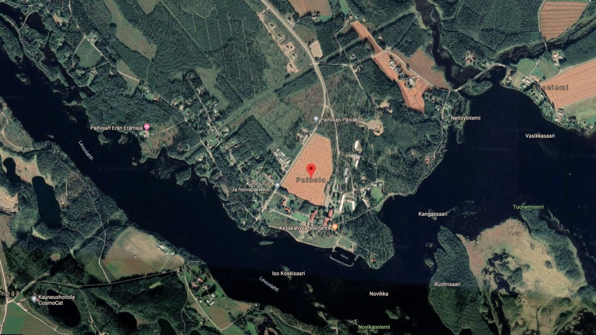 Satellite image of the area where the reception centre is located. Image: Google Maps.