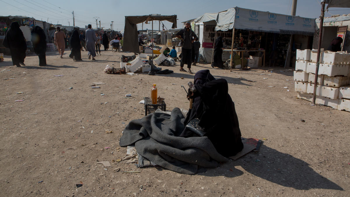A recent image from Al-Hawl camp. Photo credit: Y. Boechat (VOA).