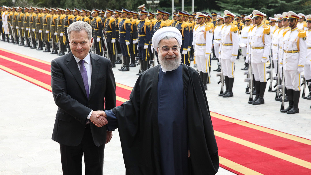 Sauli Niinistö with Hassan Rouhani during a visit to Iran in 2016. Photo: Juhani Kandell/President's Office.