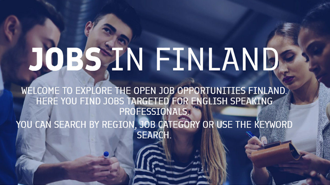 Image: the website Jobs in Finland, by Business Finland.