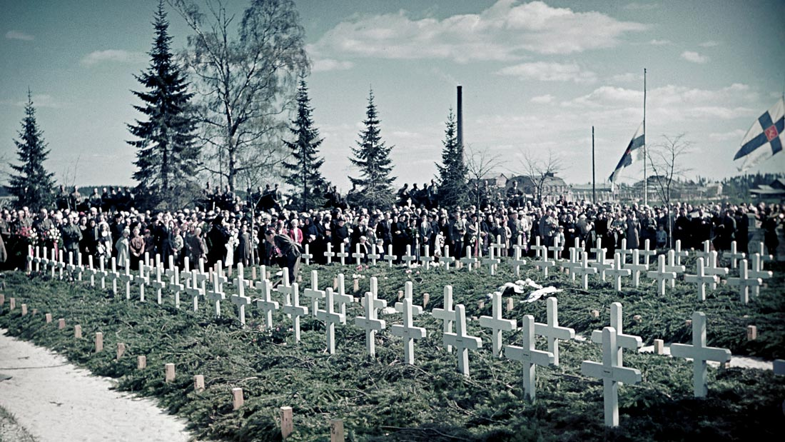 Heroes Remembrance Day in Joensuu (1940). Photo: SA-Kuva.