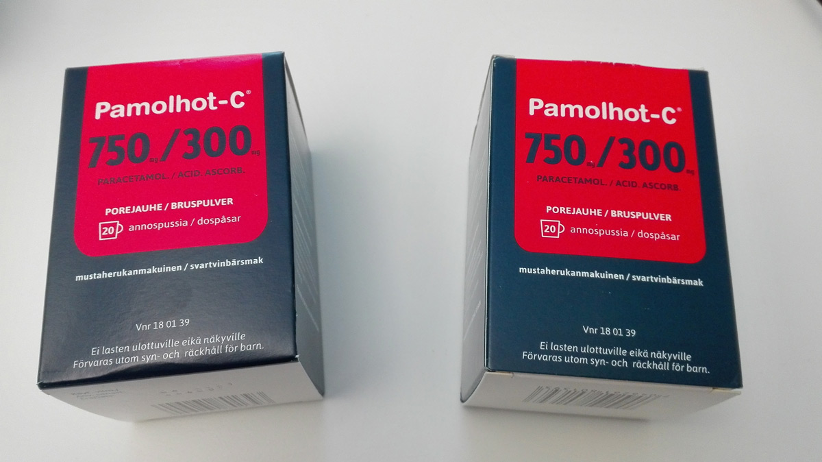 Two packets of Paracetamol. Photo: Foreigner.fi