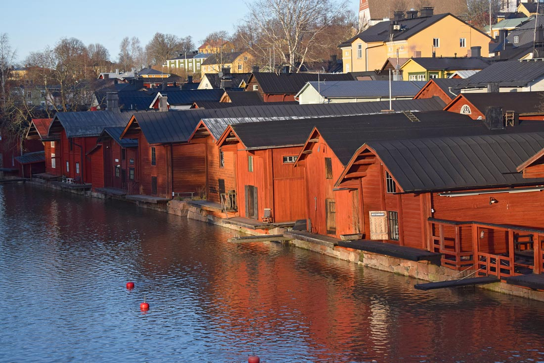 Porvoo wooden houses by the river. Photo: Pablo Morilla.