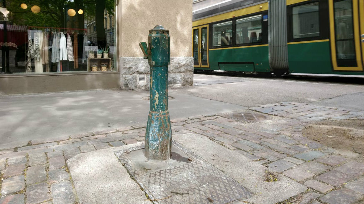 A water post in the city of Helsinki. Photo: HSY.