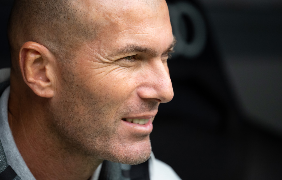 Real Madrid's head coach Zinedine Zidane. Photo: Sven Hoppe/dpa.