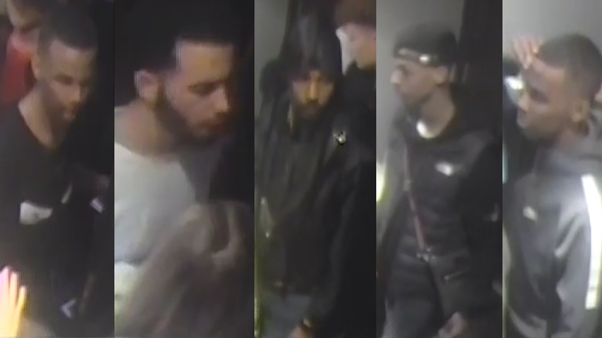 The Helsinki police department released pictures of the five suspects on Tuesday. Images: Police.