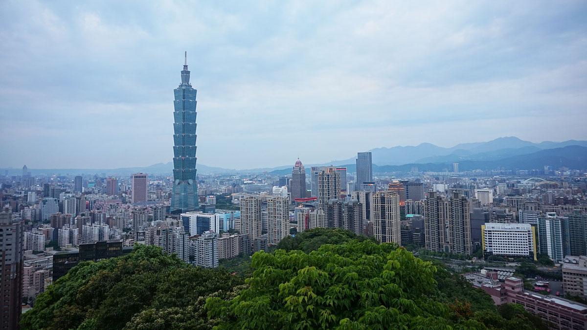 A view of Taipei, the capital of Taiwan.