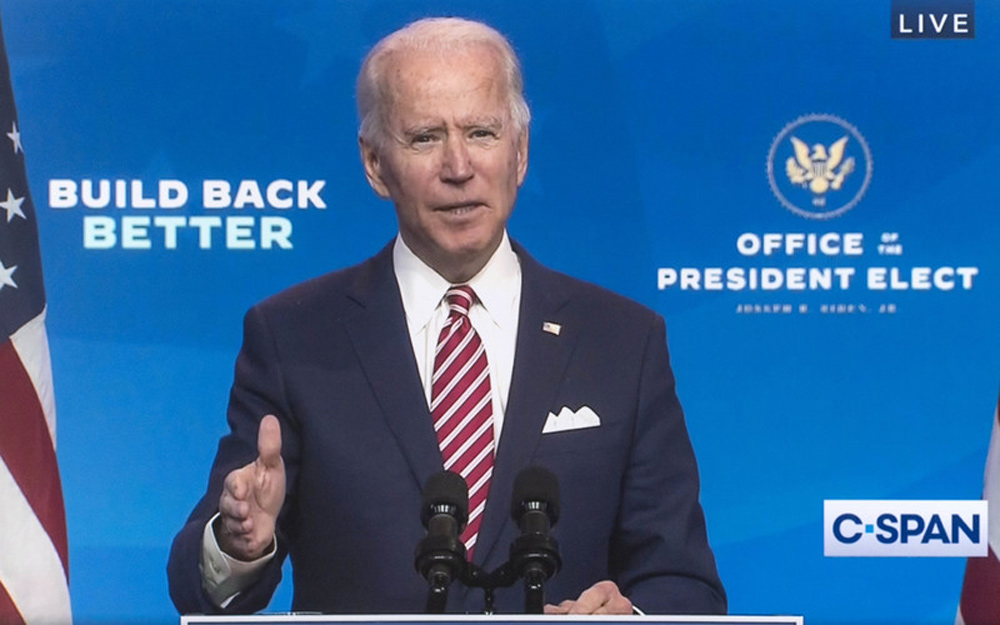 File photo of the President-elect Joe Biden delivering remarks about the American economy. Image: © C-Span/dpa.