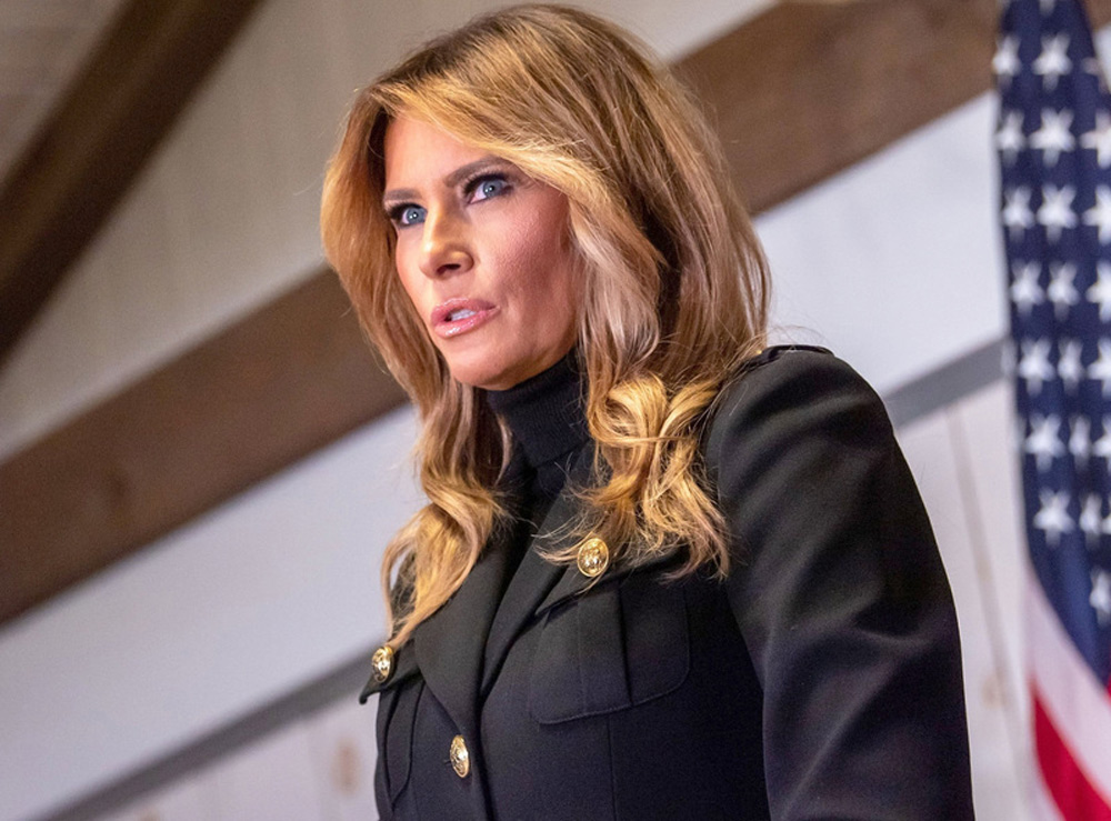 FILED - First Lady Melania Trump speaks at a rally for supporters of president Donald Trump in Pennsylvania, US, on October 31, 2020. Photo: Ron Adar/SOPA Images via ZUMA Wire/dpa