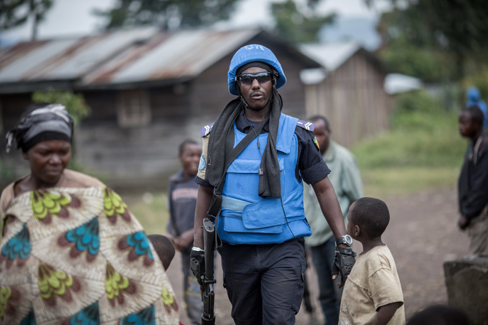 FILED - A Senegalese soldier works near Goma, in the Congo, in 2015, while with a UN mission. The Italian ambassador to the Democratic Republic of Congo has been killed during a visit to a volatile part of the country in a World Food Programme (WFP) convoy. Photo: Michael Kappeler/dpa